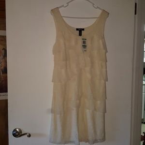 **NEW** Gorgeous Style & Co. Cream Lace Dress